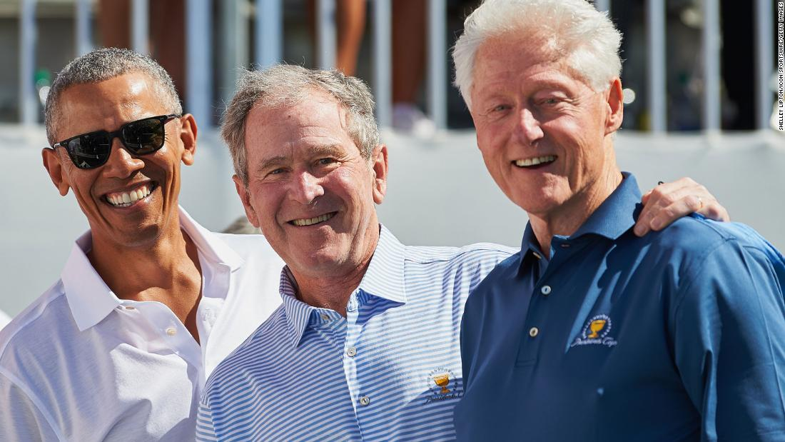 Barack Obama and Bill Clinton will join George W. Bush at ...