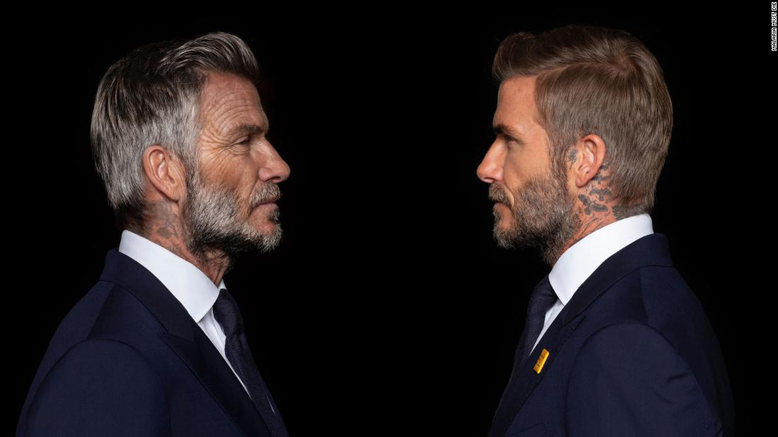 David Beckham digitally aged into his 70s for ad campaign