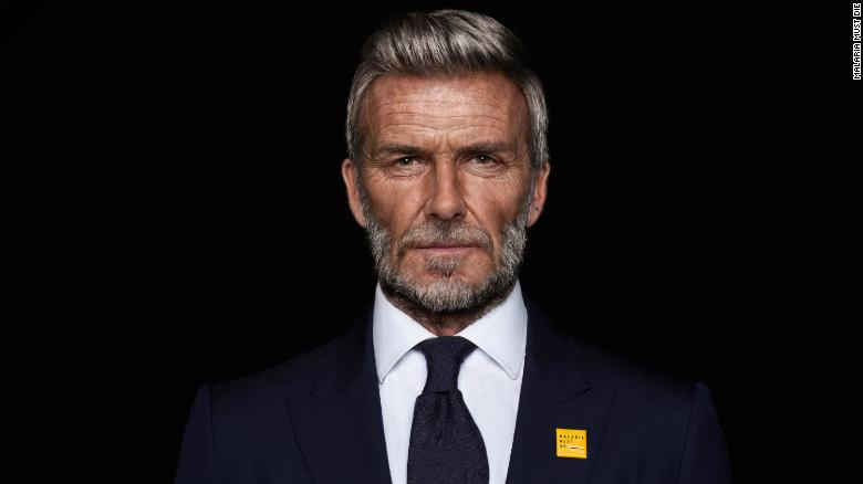 David Beckham digitally aged into his 70s in combating malaria campaign