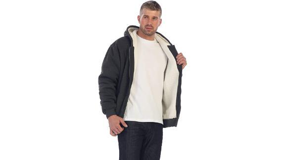 Gioberti Heavyweight Sherpa Lined Fleece Hoodie Jacket