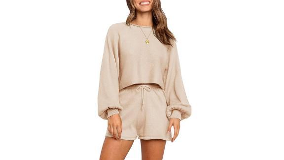 Zesica Casual Long Sleeve Sweater Set