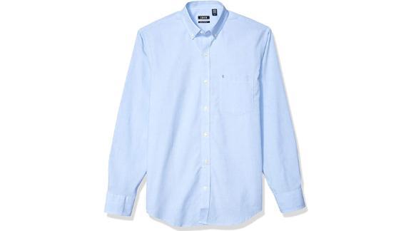 Izod Long Sleeve Stretch Performance Button Down Shirt