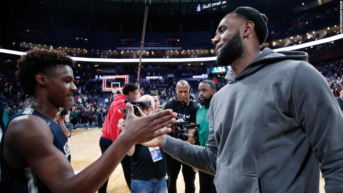 LeBron James could play with his son in the NBA