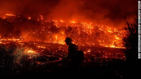 Bond Fire in Southern California now 10% contained, two firefighters injured