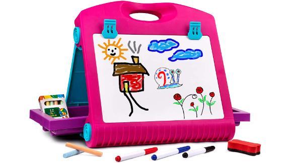 Playkidiz Art Double Sided Tabletop Art Easel for Kids