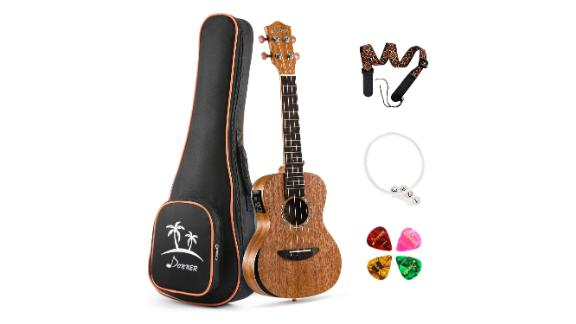 Donner Acoustic Electric Ukulele Beginner Kit