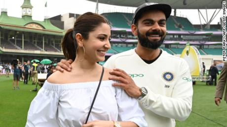 India's captain Virat Kohli and his wife, Anushka Sharma,  in Sydney on January 7, 2019.