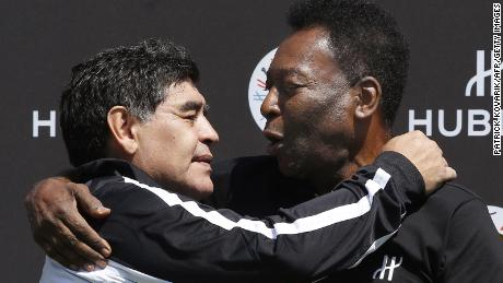 Diego Maradona and Pele became friends after their playing careers.