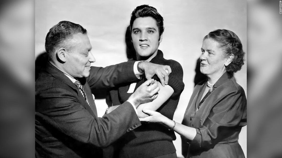 Biden's team following Elvis Presley's footsteps on vaccine