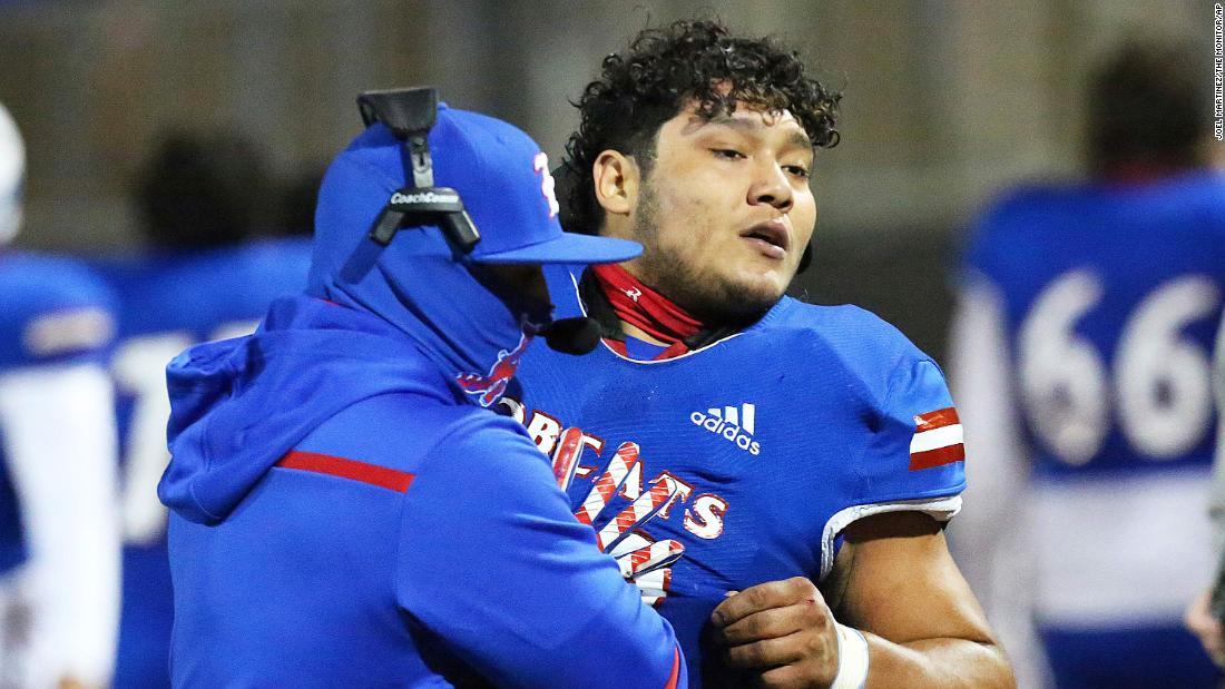 Texas high school football playe