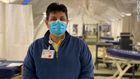 """Dr. Adoplhe Edward, CEO of El Centro Medical Center in Southern California's Imperial Valley, says his staff is """"severely exhausted"""" from treating Covid-19 patients."""