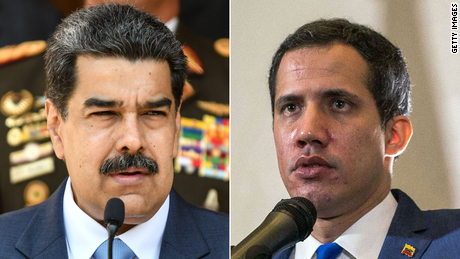 Venezuela election-Nicolas Maduro and Juan Guaidó