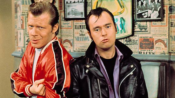 """<a href=""""https://www.cnn.com/2020/12/05/us/david-lander-squiggy-dead-laverne--shirley-trnd/index.html"""" target=""""_blank"""">David Lander</a>, right, who played Squiggy on the sitcom """"Laverne & Shirley,"""" died December 4, his family said in a statement to CNN. He was 73. Lander had been fighting multiple sclerosis for decades."""
