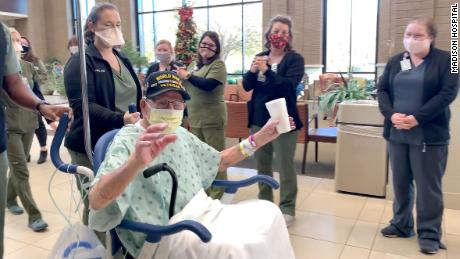 Major Lee Wooten was released from an Alabama hospital after recovering from Covid-19 on Tuesday, December 1, just days before his 104th birthday.