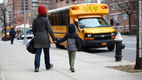 New York City elementary students are back in schools. But older students will have to wait
