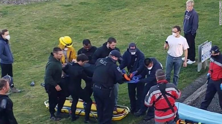 A surfer is injured in a shark attack in Oregon