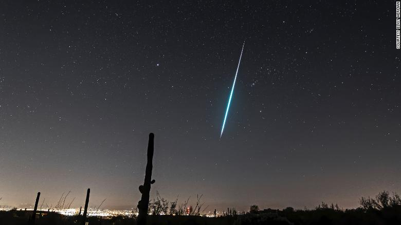 The annual Geminid meteor shower peaks Sunday and Monday