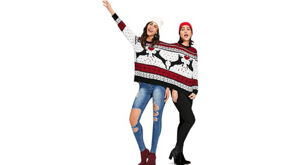 Charmma 2-Person Knit Pullover Ugly Christmas Sweater