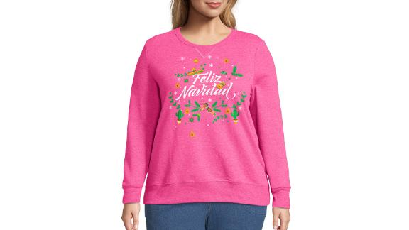 Just My Size Feliz Navidad Plus-Size Ugly Christmas Sweater