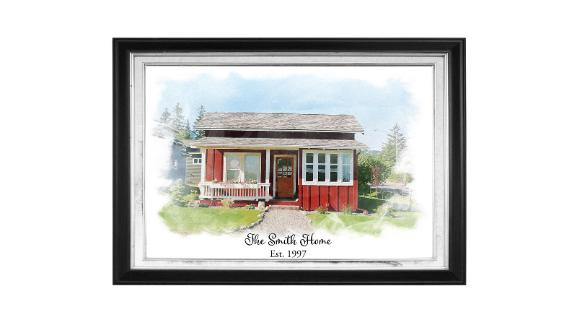 Personalized House Picture Portrait