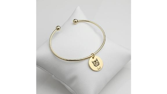 Custom Dog Charm Bangle Bracelet