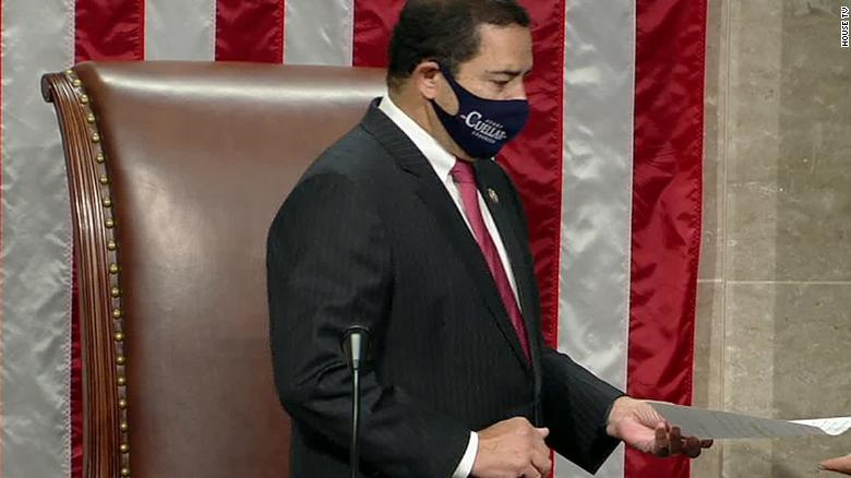 GOP lawmaker calls for a ban on stylized masks on the House floor