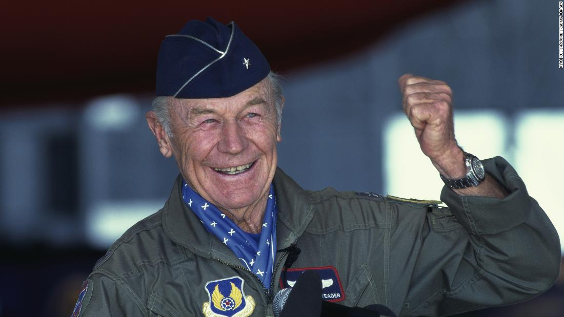 Chuck Yeager pilot who broke the sound barrier dies at 97 – CNN