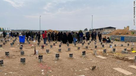 Muslim Imams at an Iranian gravesite say prayers 30 times a day as the death toll from Covid-19 grows.
