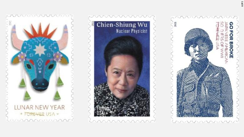 Postal service honors Japanese American vets and a Chinese American scientist with new stamps