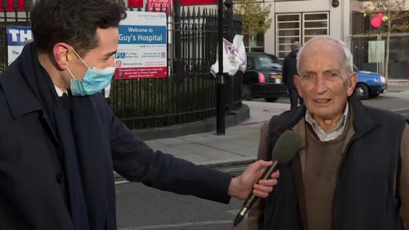 CNN's Cyril Vanier speaks with Martin Kenyon, a 91-year-old Briton who received the Pfizer/BioNTech coronavirus vaccine.