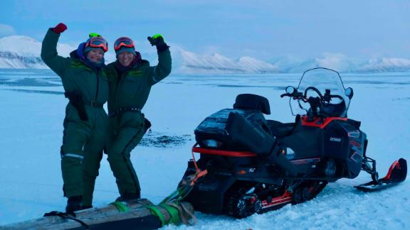 "Sunniva Sorby and Hilde Falun Storm are the first all-women team to overwinter in the Arctic. They are on a mission to highlight climate change with their online platform ""Hearts in the Ice""."