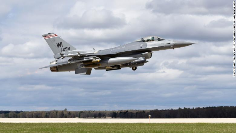Officials are searching for the pilot of an F-16 military plane that crashed in Michigan