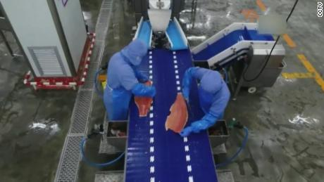 See how China disinfects frozen foods for suspected coronavirus