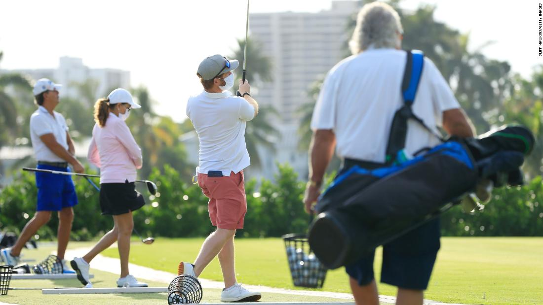 Golf is booming because of the pandemic