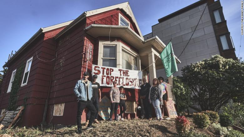 Tensions over eviction of Black-Indigenous family in Portland reach boiling point as protesters clash with police