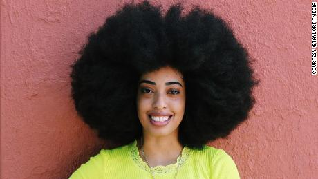 Simone Williams breaks Guinness World Record for largest afro