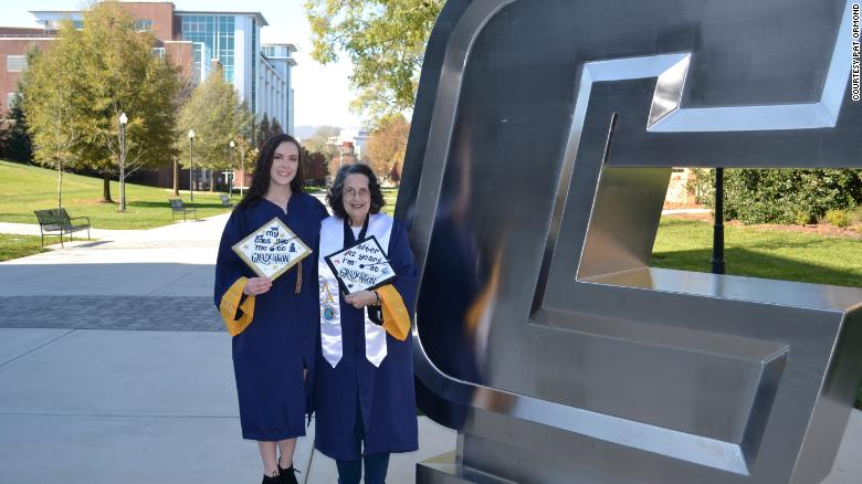This 74-year-old grandmother just graduated from college alongside her granddaughter