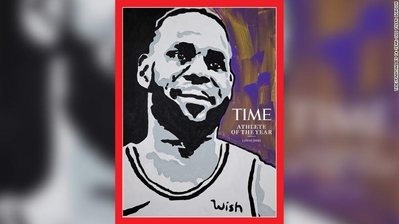 Time's cover for Athlete of the Year features a painting of LeBron James by 14-year-old Tyler Gordon