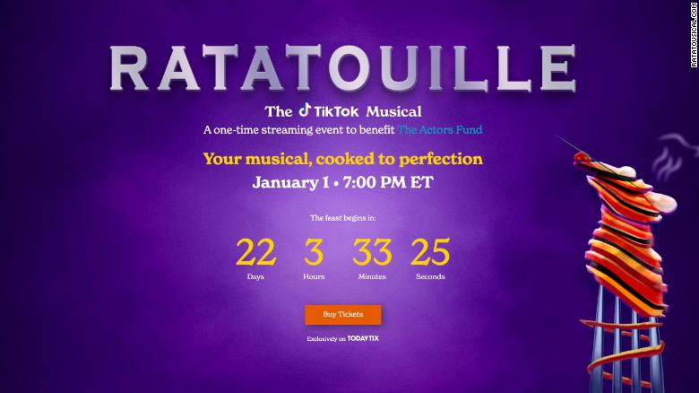 Users turned 'Ratatouille' into a TikTok musical. Now, it will become a benefit for Broadway