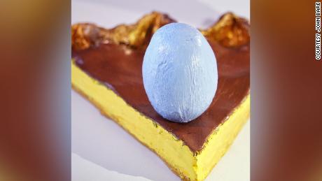 Egg custard pie by John.