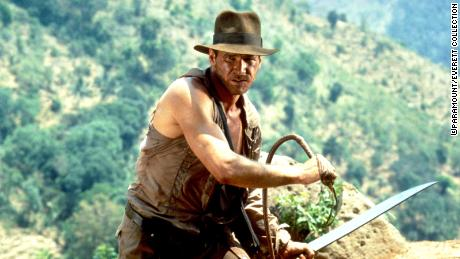 """Ford, pictured here in 1984's """"Indiana Jones and the Temple of Doom,"""" has said the movies are """"great fun to make."""""""