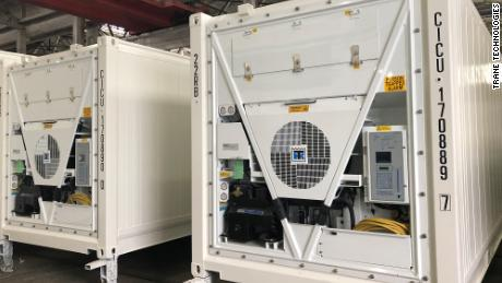 Thermo King's newly-developed freezers in transit to a customer in Europe this year.