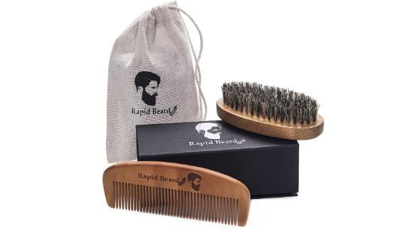 Rapid Beard Store Beard Brush and Beard Comb Kit