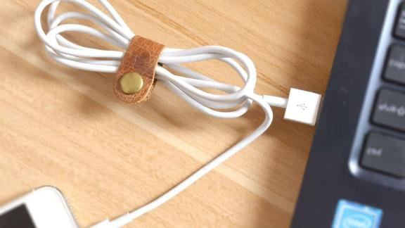 Caillu Tiny Leather Cord Organizer