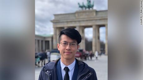 Democracy activist Ray Wong is pictured in Berlin in early 2019. Wong fled to Germany in 2017, where he has since been granted asylum.