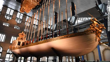 Napoleon's spectacular imperial barge goes on show after restoration