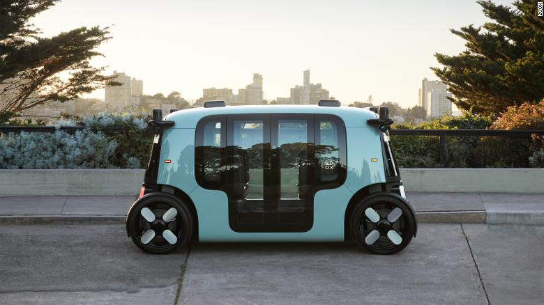 Amazon's Zoox revealed its robotaxi.