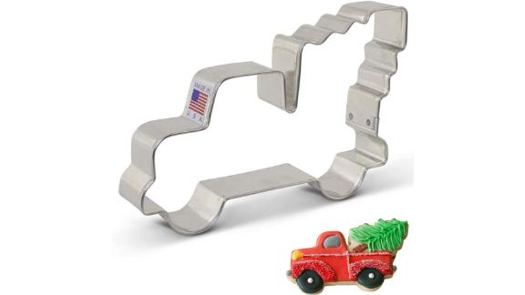 Ann Clark Extra-Large Vintage Pickup Truck With Christmas Tree Cookie Cutter