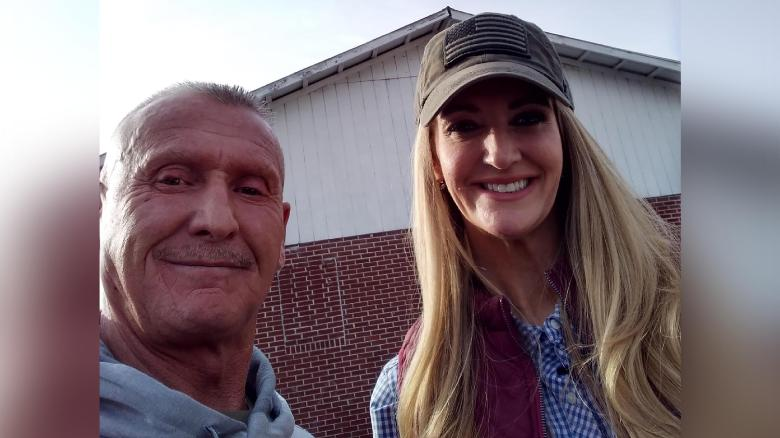 GOP Sen. Kelly Loeffler is pictured next to Chester Doles, a White supremacist and member of the neo-Nazi National Alliance, during a campaign event in Georgia on Friday. Doles posted the photo to VK, a Russian social networking site.
