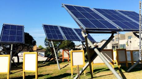 Solar panels array, Ceres Environmental Park, Brunswick East, Melbourne, Australia